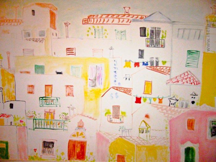 Le case di fronte inella quadri arte - Le finestre di fronte ...