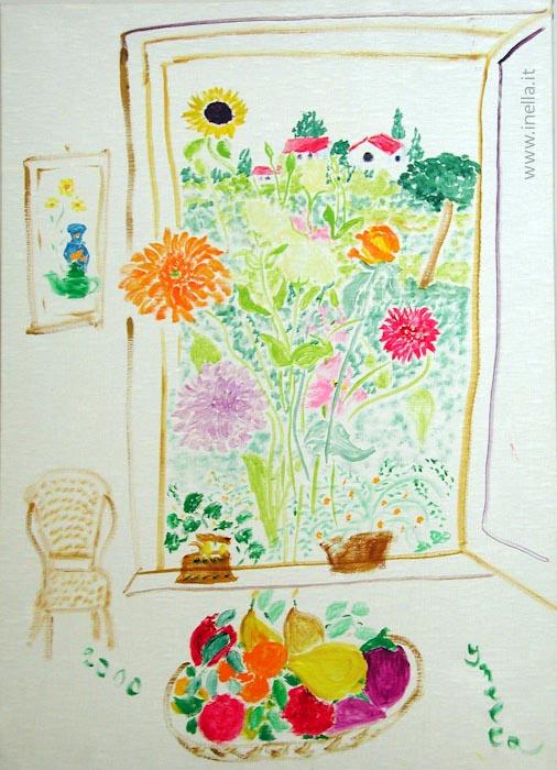 La finestra aperta alla vita inella quadri arte for Finestra 50x70